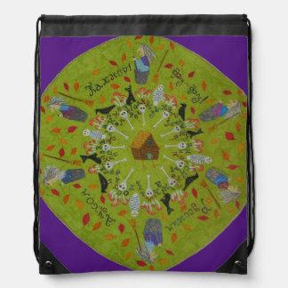 Baba Yaga Mandala Drawstring Bag