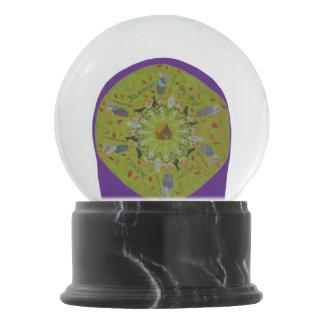 Baba Yaga Mandala Snow Globe