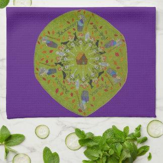 Baba Yaga Mandala Tea Towel