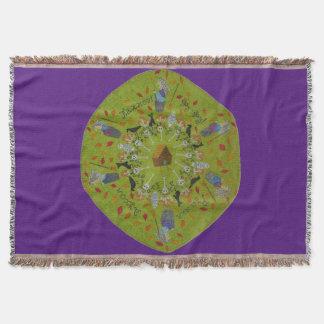 Baba Yaga Mandala Throw Blanket