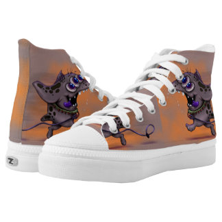 BABABA DOGGY MONSTER ALIEN High Top Shoes 2 Printed Shoes