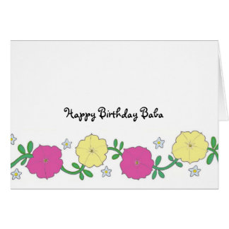 Baba's Petunias - Happy Birthday Baba Card
