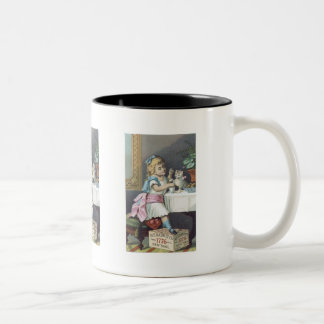 Babbits Girl with Cat Coffee Mugs