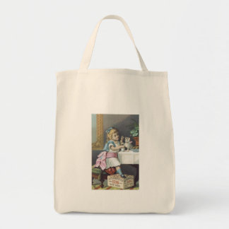 Babbits Girl with Cat Tote Bags