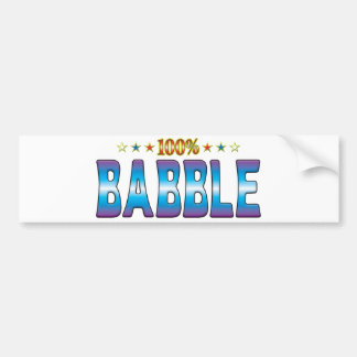 Babble Star Tag v2 Bumper Stickers