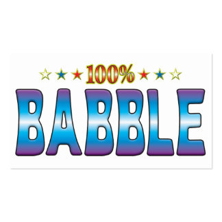Babble Star Tag v2 Business Card Templates