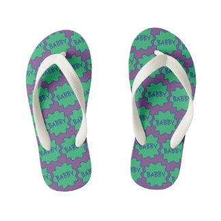 Babby, Baby, Child, Funny British Slang Flipflops