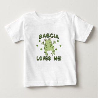 Babcia Loves Me Frog Baby T-Shirt