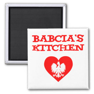 Babcia's Kitchen With Polish White Eagle Magnet