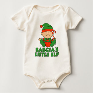 Babcia's Little Elf Baby Bodysuit