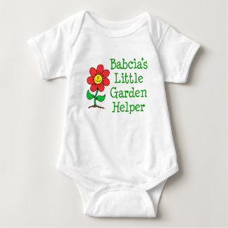 Babcia's Little Garden Helper Baby Bodysuit