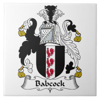 Babcock Family Crest Ceramic Tile