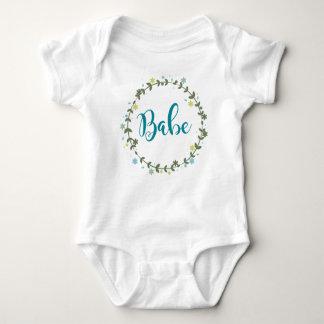 Babe Floral Wreath Baby Bodysuit