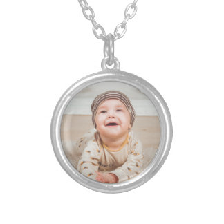babe silver plated necklace
