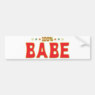 Babe Star Tag Bumper Sticker