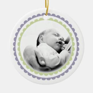 Babies 1st Christmas Name Photo Ornament Keepsake