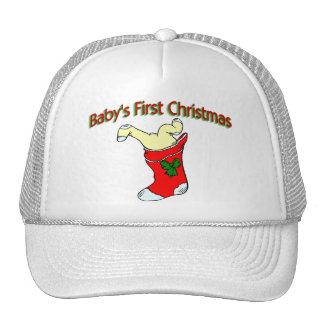 Babies First Christmas Trucker Hat