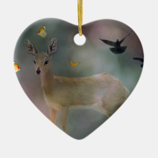 Babies forest fantasy ceramic ornament