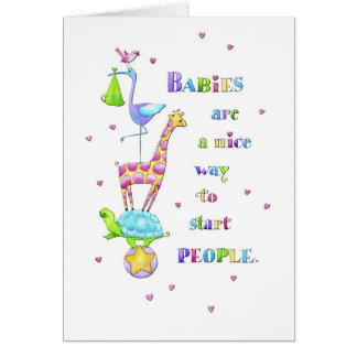 Babies, Nice People Card