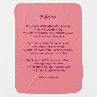 Babies poem baby blanket