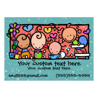 Babies Toddlers Daycare Nursery TEAL Pack Of Chubby Business Cards