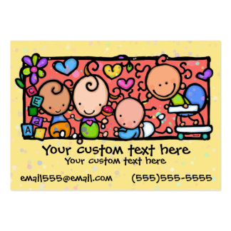 Babies Toddlers Daycare Nursery YELLOW Pack Of Chubby Business Cards