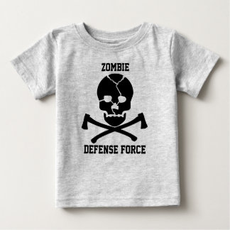babies Zombie Defense Force: Skulls & Axes Baby T-Shirt