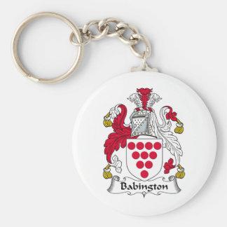 Babington Family Crest Basic Round Button Key Ring