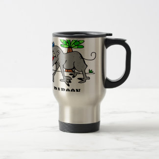 Baboon by Lorenzo Travel Mug
