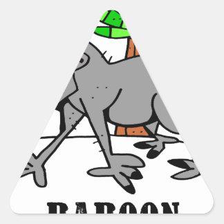 Baboon by Lorenzo Triangle Sticker