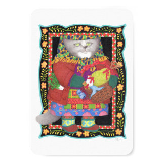 "Baboushka Kitty 3.5"" x 5"" Invitation/Flat Card 9 Cm X 13 Cm Invitation Card"