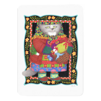 "Baboushka Kitty 4.5"" x 6.25"" Invitation/Flat Card 11 Cm X 16 Cm Invitation Card"