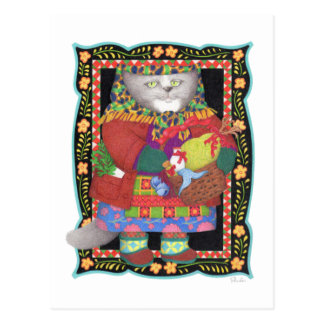 Baboushka Kitty Postcard