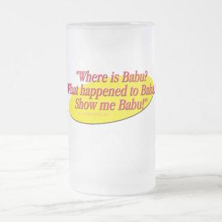 Babu!... Frosted Glass Beer Mug