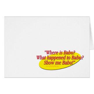 Babu!... Note Card
