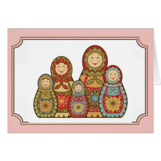 "Babushka Greeting Card - ""Happy smiles"""