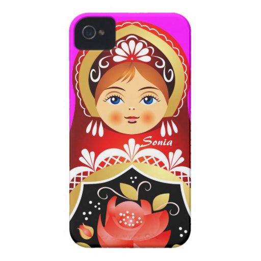 Babushka Matryoshka Russian Doll Blackberry Case