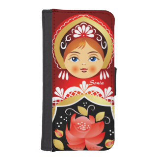 Babushka Matryoshka Russian Doll iPhone SE/5/5s Wallet Case