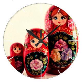 Babushka Russian Doll Clocks
