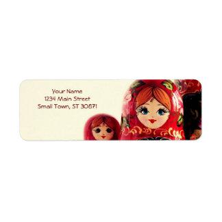 Babushka Russian Doll Return Address Label