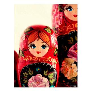 Babushka Russian Doll Postcard