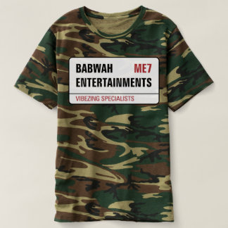 Babwah Ents Gents Camouflage Tee's T-Shirt