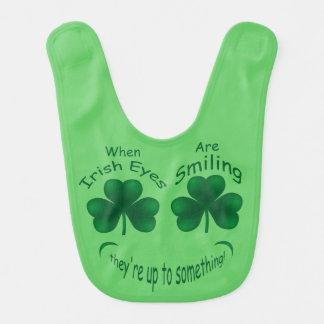 Baby 1st St. Patricks Day Shamrock Irish Eyes Bib