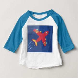 Baby 3/4 Sleeve Raglan T-Shirt Aeroplane Aircraft