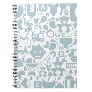 Baby a background2 spiral note book