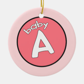 """Baby A"" Personalized Ornament for Multiples"