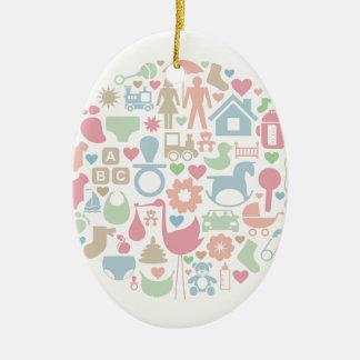 Baby a sphere ceramic ornament