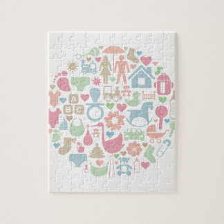 Baby a sphere jigsaw puzzle