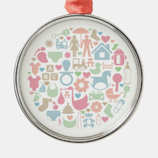 Baby a sphere metal ornament