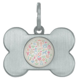 Baby a sphere pet tag